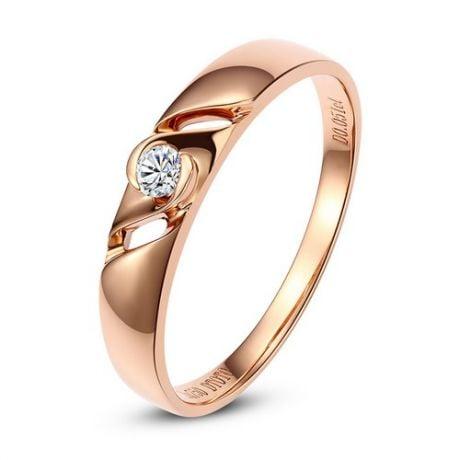 Fede Nuziale da Donna Glenda - Oro Rosa, Diamante