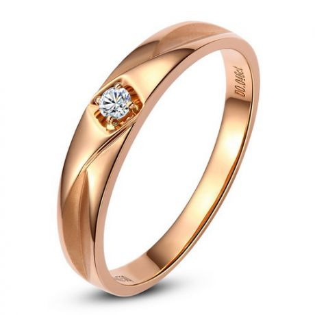 Alliance Diamant Tracy or rose - Bague pour Lui