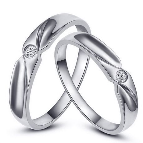 Alliance originale or blanc - Alliance Couple - Diamant