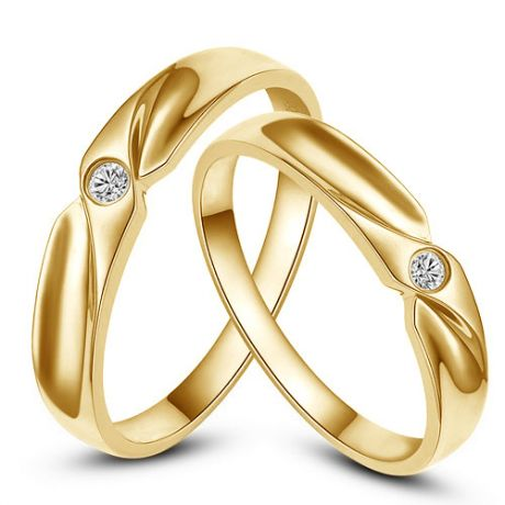 Alliance originale or jaune - Alliance Couple - Diamant