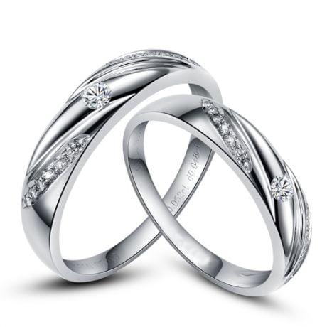 Alliances Étoiles - Alliances or blanc diamants - Alliances Duo