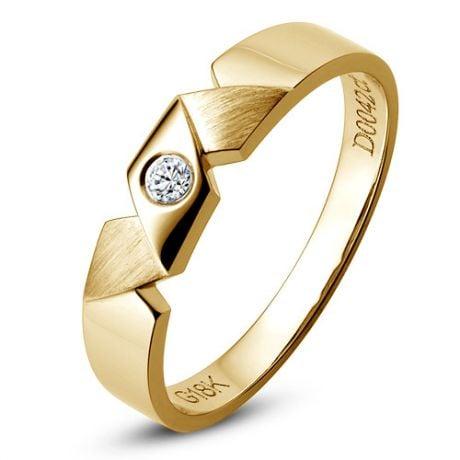 Fede per Uomo - Oro giallo 4.10gr - Diamante 0.045ct