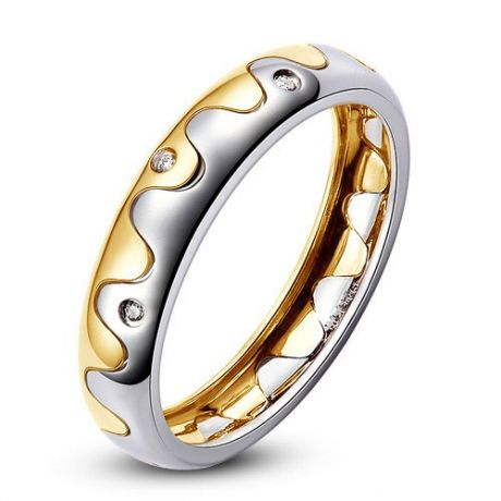Alliance 2 ors - Alliance Homme or blanc et jaune - Diamants