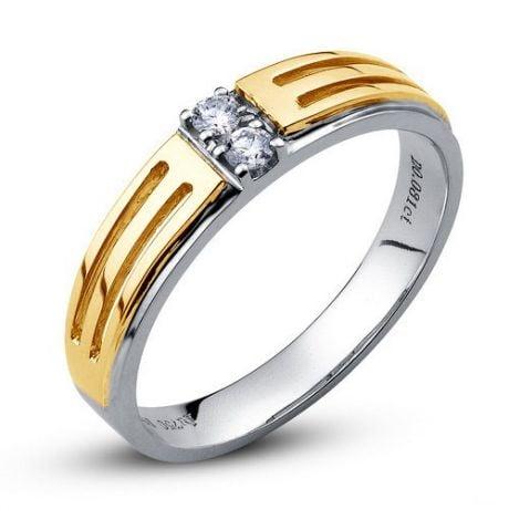 Bijouterie alliance mariage - Alliance Femme - Or blanc et jaune