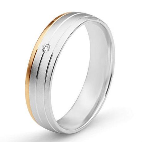 Fede Donna - 2 Ori 3.10gr - Diamanti 0.015ct