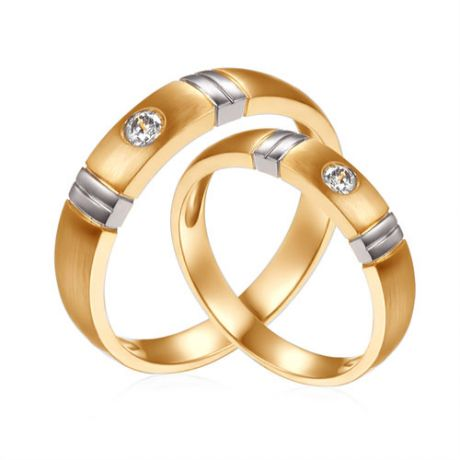 Alliances Couple. Diamants 0.130ct. 2 Ors | Garbo & Anderson
