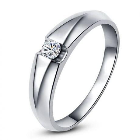 Fede Nuziale per Donna. Anello Platino con Diamante Solitario | Destiny