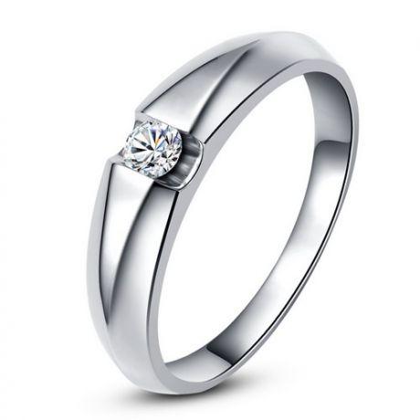 Alliance solitaire or blanc - Bague alliance diamant pour Homme | Marquis