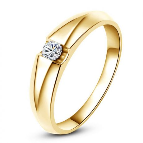 Alliance solitaire or jaune - Bague alliance diamant pour Homme | Marschall