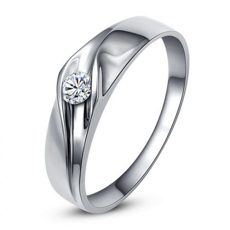 Alliance de fiançaille - Alliance or blanc pour Femme - Diamant
