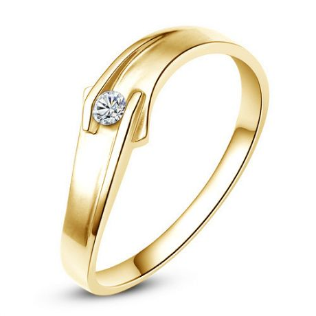 Fede Nuziale Conan per Uomo - Oro Giallo 18kt e Diamante