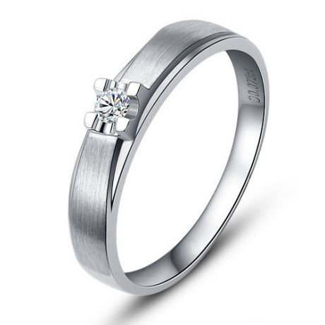 Fede Nuziale da Uomo Orson - Platino, Diamante
