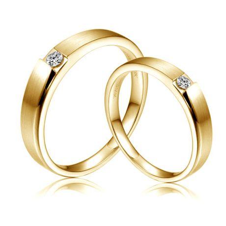 Fedi Nuziali Crawford & Paul - Oro Giallo e Diamante Solitario