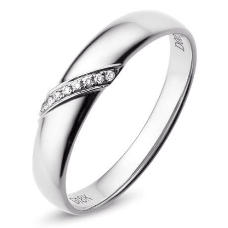Fede Nuziale per Uomo Sasha - Platino & Fascia di Diamanti | Gemperles