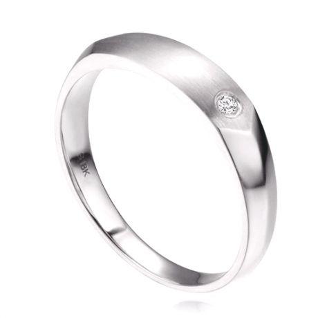 Fede matrimoniale per uomo. Platino e diamante incastonato | Wyn