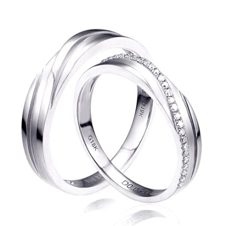Fedi Nuziali Mignonne & Bhalcan - Oro Bianco 18kt e Diamanti