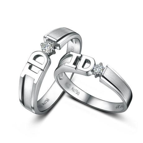 Alliances I DO - Alliances duo d'Or blanc et diamants