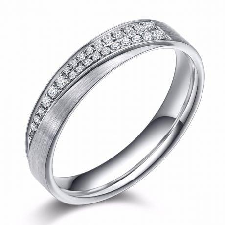 Fede Nuziale Donna Segno d'Amore - Platino, Diamanti | Gemperles