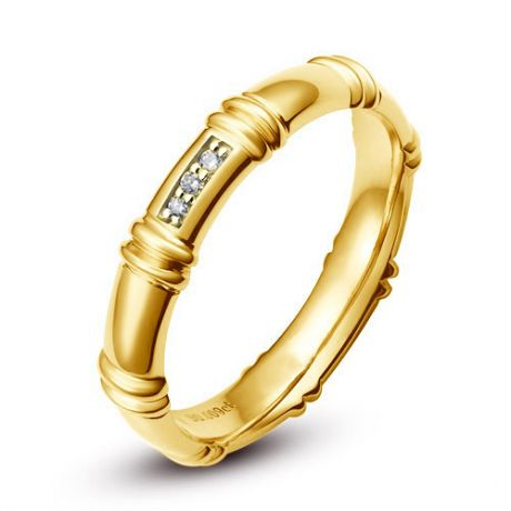 Alliance en or jaune 18 carats - Alliance diamants pour Femme | Hortense