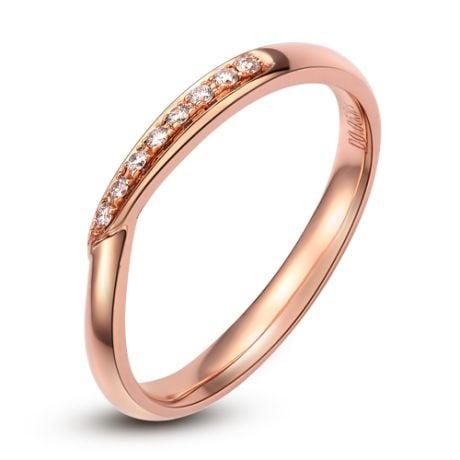 Fede Nuziale Pritella - Anello Donna in Oro Rosa & Diamanti