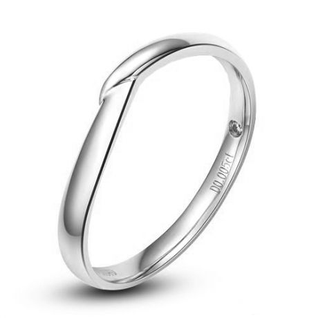 Alliance bague facettée - Alliance diamant Homme - Platine