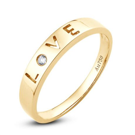 Fede Nuziale Donna Love Actually - Oro Giallo e Diamante VS/G