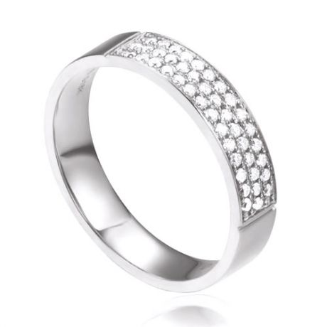 Alliance Or Blanc Jaq - Alliance de Fiançaille en Diamant - Femme | Gemperles