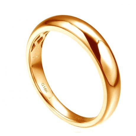 Alliance bombée Or jaune 18 carats Messieurs. 1 diamant 0.010ct | Carter