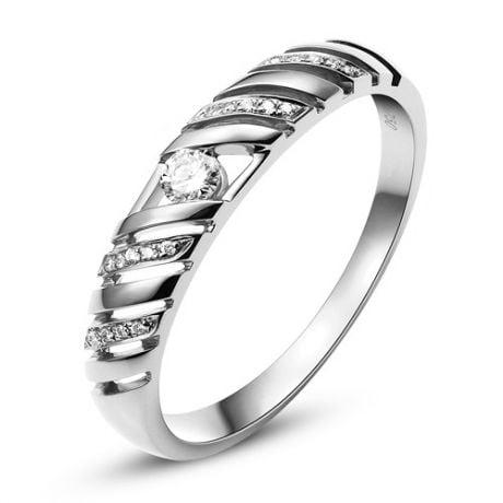 Fede nuziale per donna. Platino & Diamanti taglio brillante | Ricarda