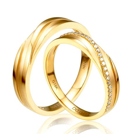 Fedi Nuziali Extase & Eolas - Oro Giallo 18kt e Diamanti