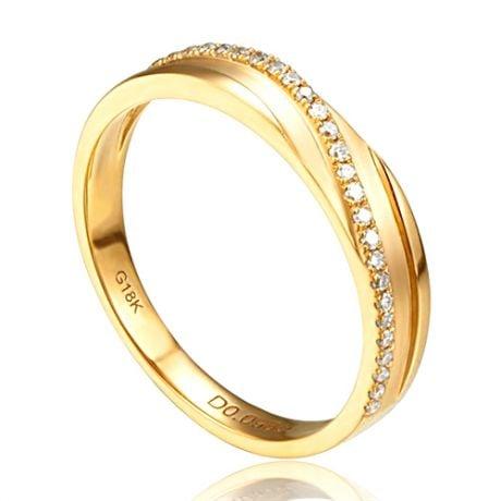 Bague alliance de prestige. Symbole d'union. Or jaune, diamants