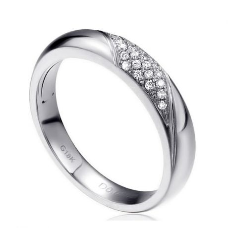 Alliance femme constellation - Or blanc - Diamants | Autour de moi pour madame