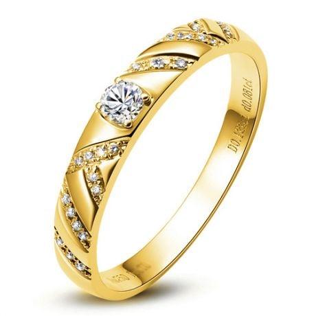 Bague Or jaune et Diamants pour femme | Toi et moi