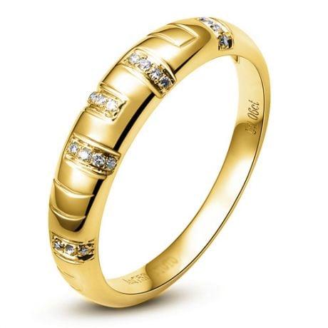 Bague Or jaune et Diamants pour homme | Toi et moi