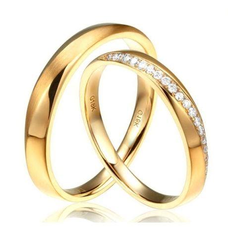 Fedi Nuziali Giovanna & Emiliano - Oro Giallo 18kt e Diamanti