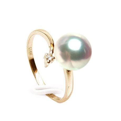 Anello Ran - Oro Giallo, Diamanti e Perla Akoya