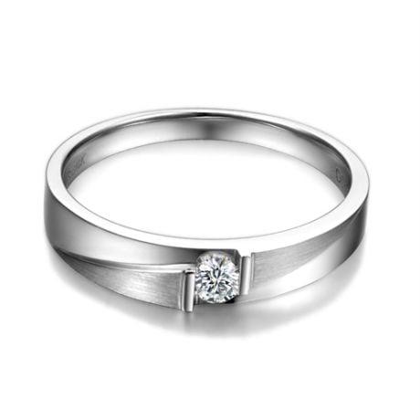 Fede Nuziale da Donna Clair De Lune - Platino, Diamante