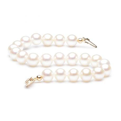 Bracelet perles de culture Femme - Perle eau douce blanche - 7/7.5mm