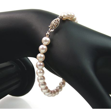 Braccialetto di Perle Akoya Akimi - Giapponesi Bianche - 5.5/6mm, AAA | Gemperles