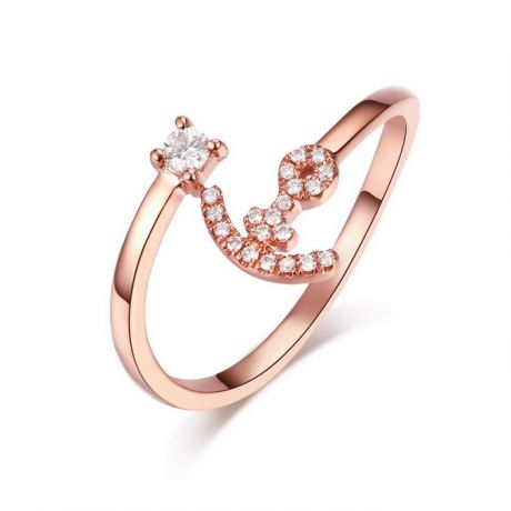 Anello Ancora per Donna -  Oro Rosa 18ct e Diamanti VS/G | Gemperles