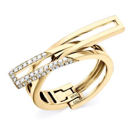 Anello Donna trasformabile in Ciondolo Cuore. Oro giallo e Diamanti | Exception