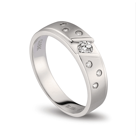 Bague alliance constellation diamantée - En or blanc 18cts - Femme | Talia
