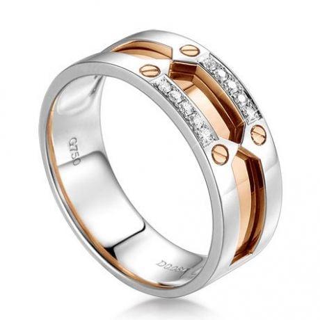Bague homme histoire d'or contemporaine - 2 Ors - Diamant