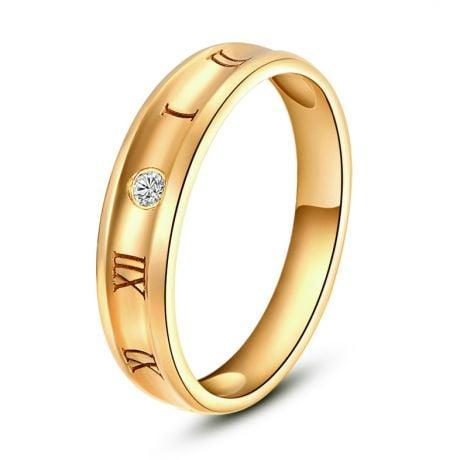 Anello Uomo in Oro giallo e diamante | Numeri Romani