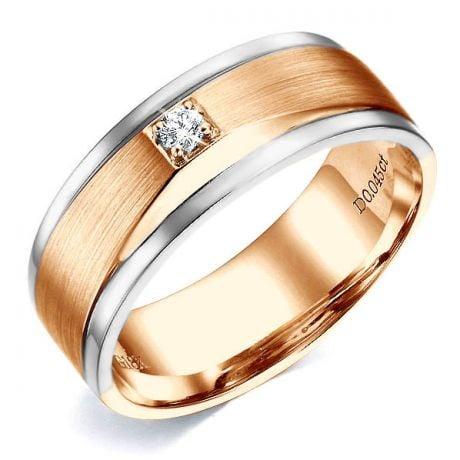 Anello Uomo in Oro giallo e bianco, Diamanti | Richard