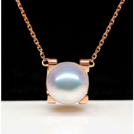 Pendentif Morita. Perles Akoya Japon et Or rose 18cts