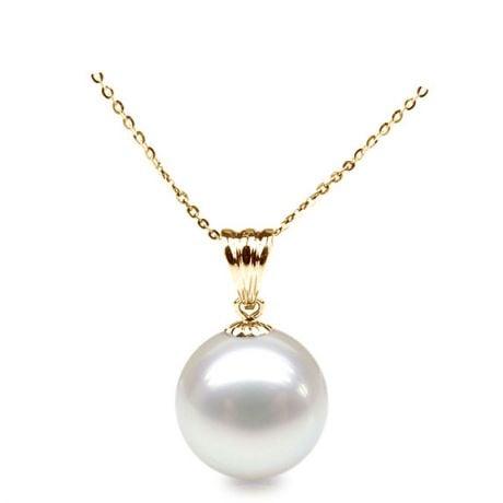 Ciondolo Harmonie - Oro Giallo 18kt e Perla d'Acqua Dolce Bianca
