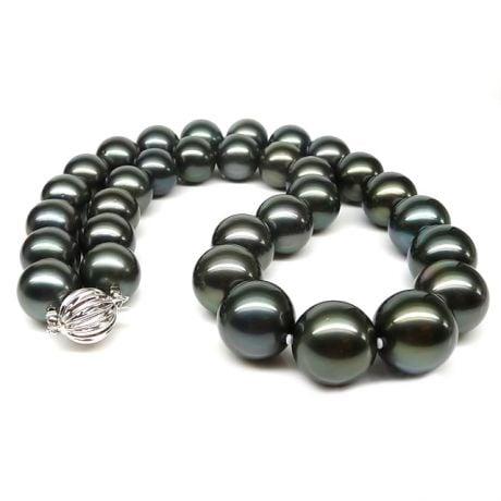 Collier en perles noires de Tahiti - 12/14.5mm, AAB