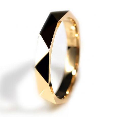 Anello Uomo Triangulaire - Oro Giallo Finitura Lucida
