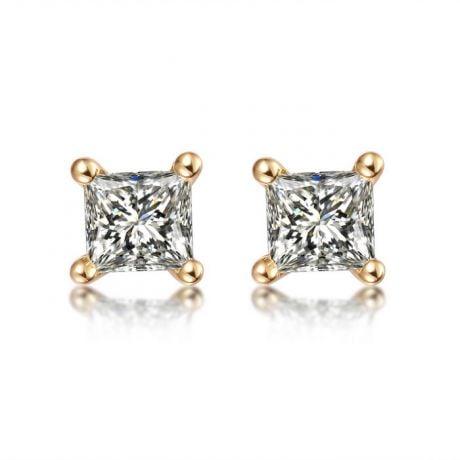 Orecchini Punto Luce Camélia - Oro Giallo & Diamanti Princess